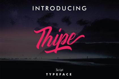 Thipe Script Free Demo Font