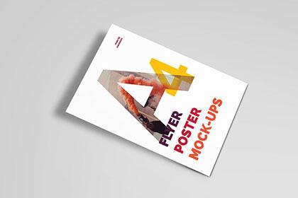 Free A4 Poster PSD Mockup