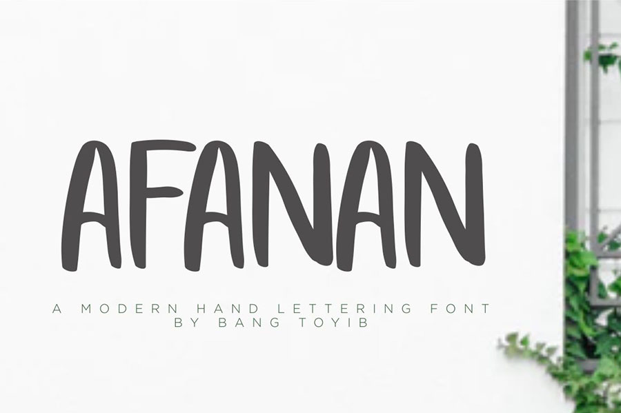 Afanan Brush Font Free Demo