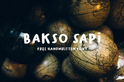 Bakso Sapi Free Typeface