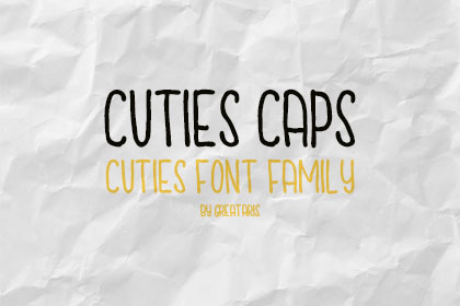 Cuties Caps TypeFamily Demo