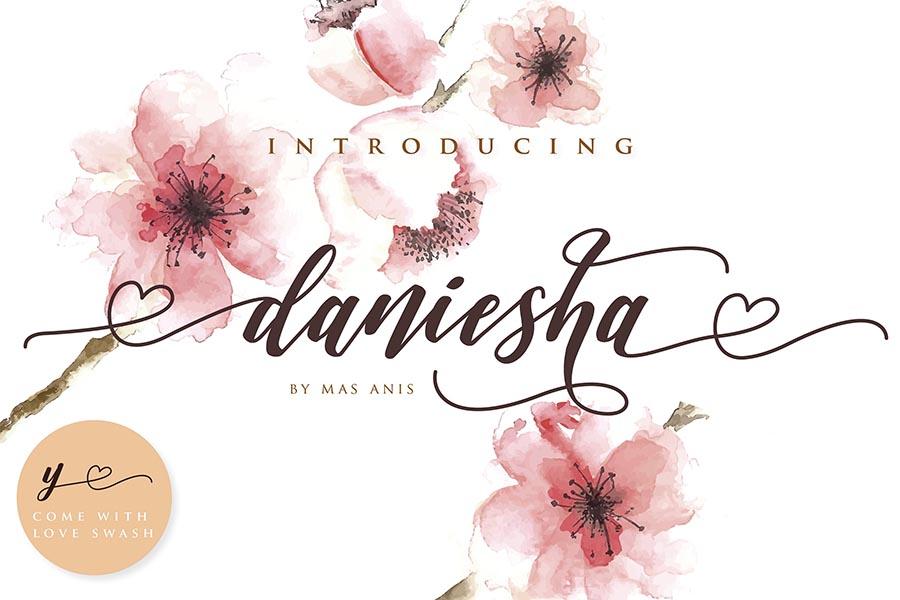 Daniesha Romantic Script Demo