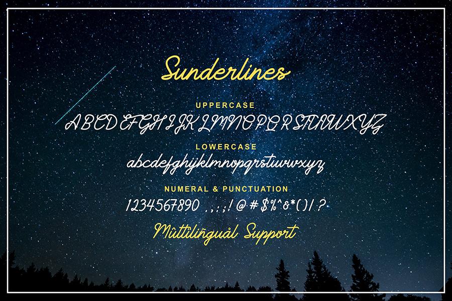 Sunderline Script Free Demo