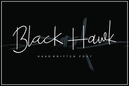 Black Hawk Stylish Font Demo