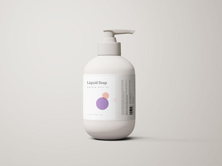 Free Liquid Soap Bottle Mockup