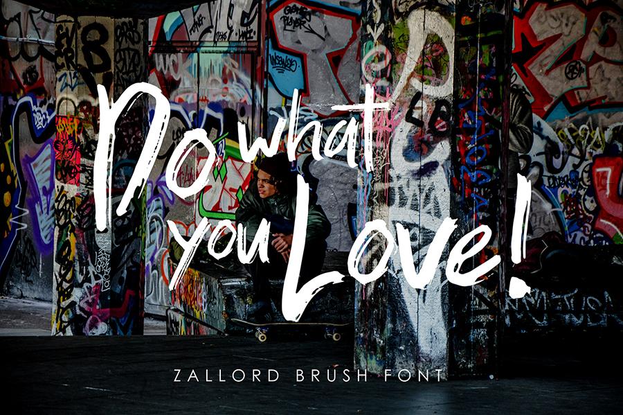 Zallord Free Brush Typeface