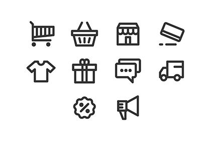 E-commerce Pixel Perfect Icon Set