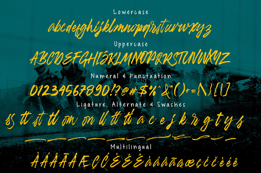 Banshee Brush Font Demo