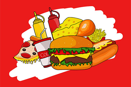 Free Hand-drawn Fast Foods