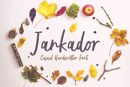 Jankador Free Handwriting Font