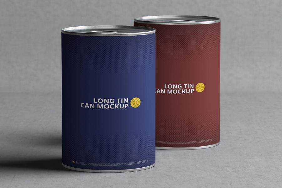 Free Long Tin Packaging Mockup
