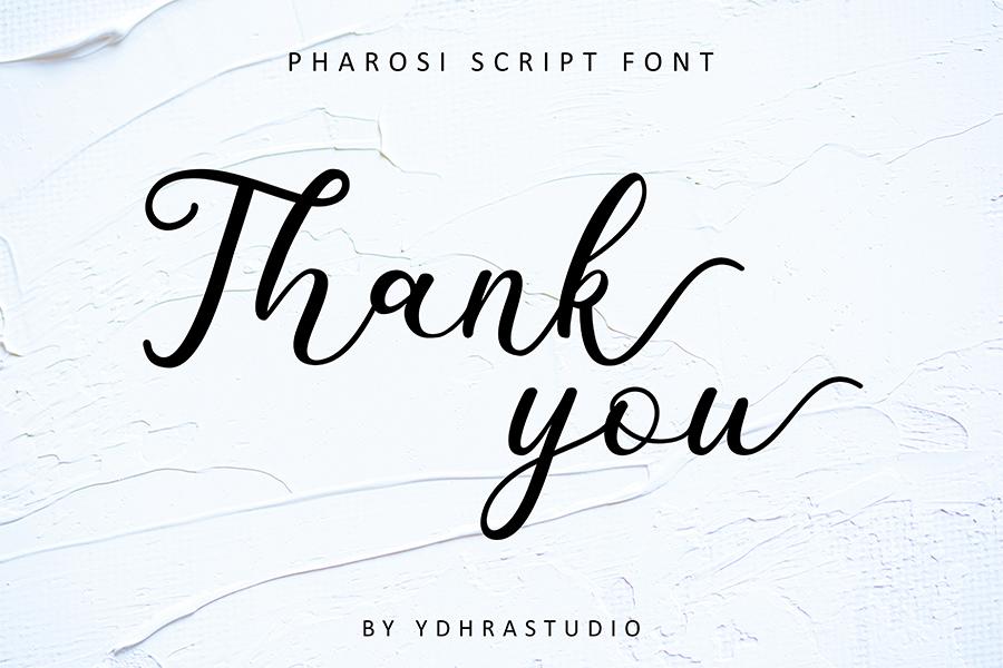 Pharosi Script Font Demo