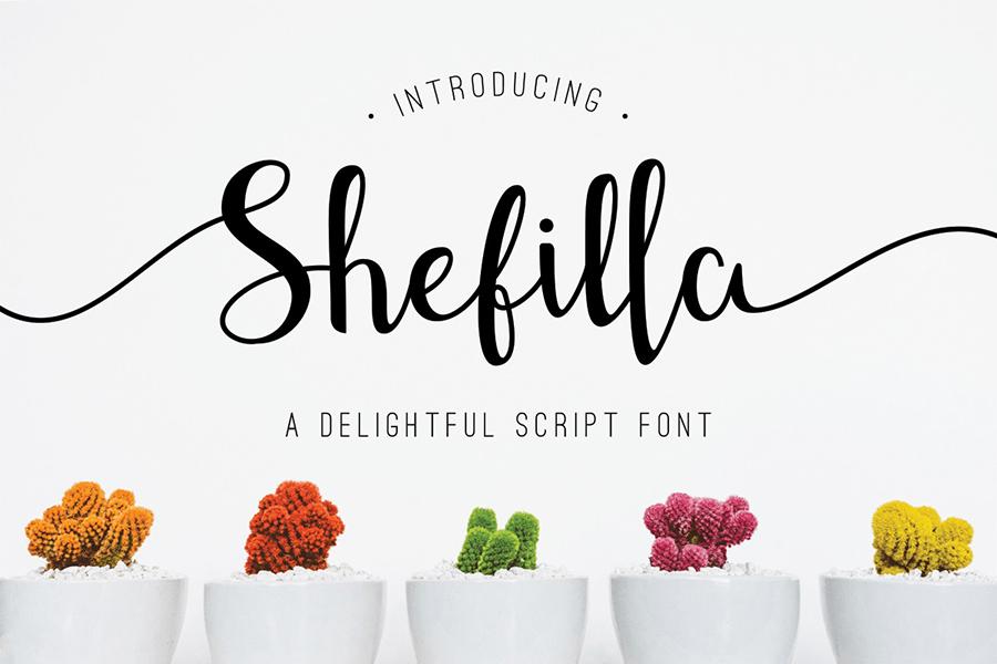 Shefilla Script Font Demo