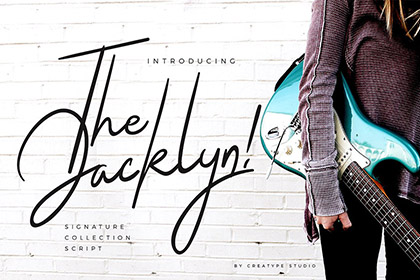 Jacklyn Signature Font Demo