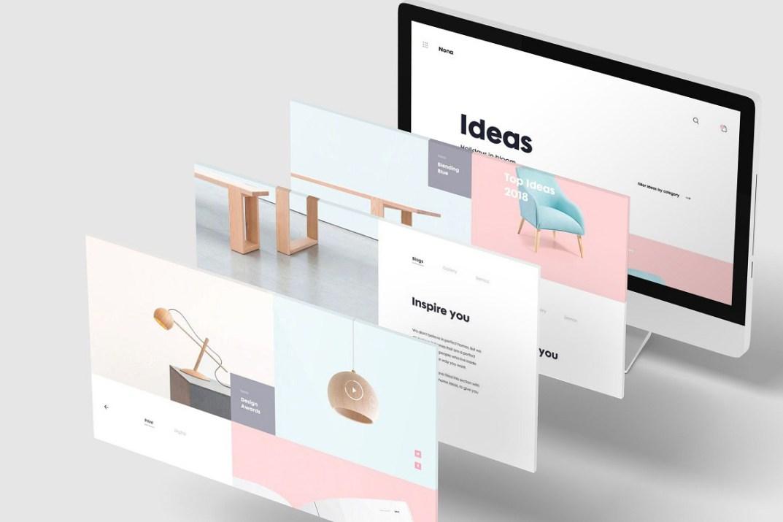 3d Desktop Screen Mockup Free Design Resources