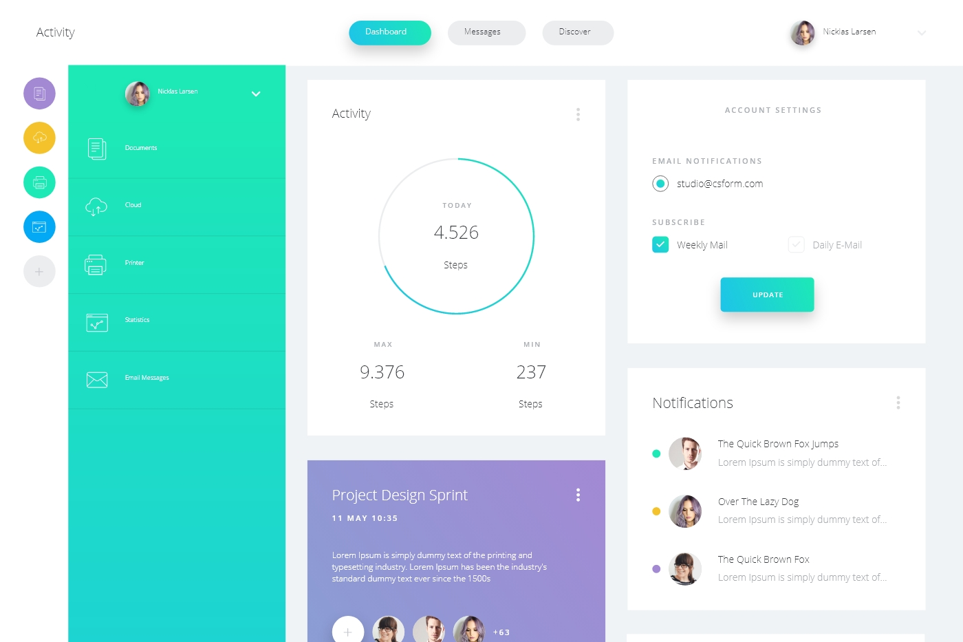 Datta Free Dashboard UI Kit