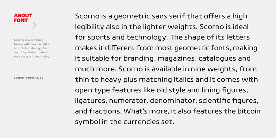 Scorno Font Family Demo