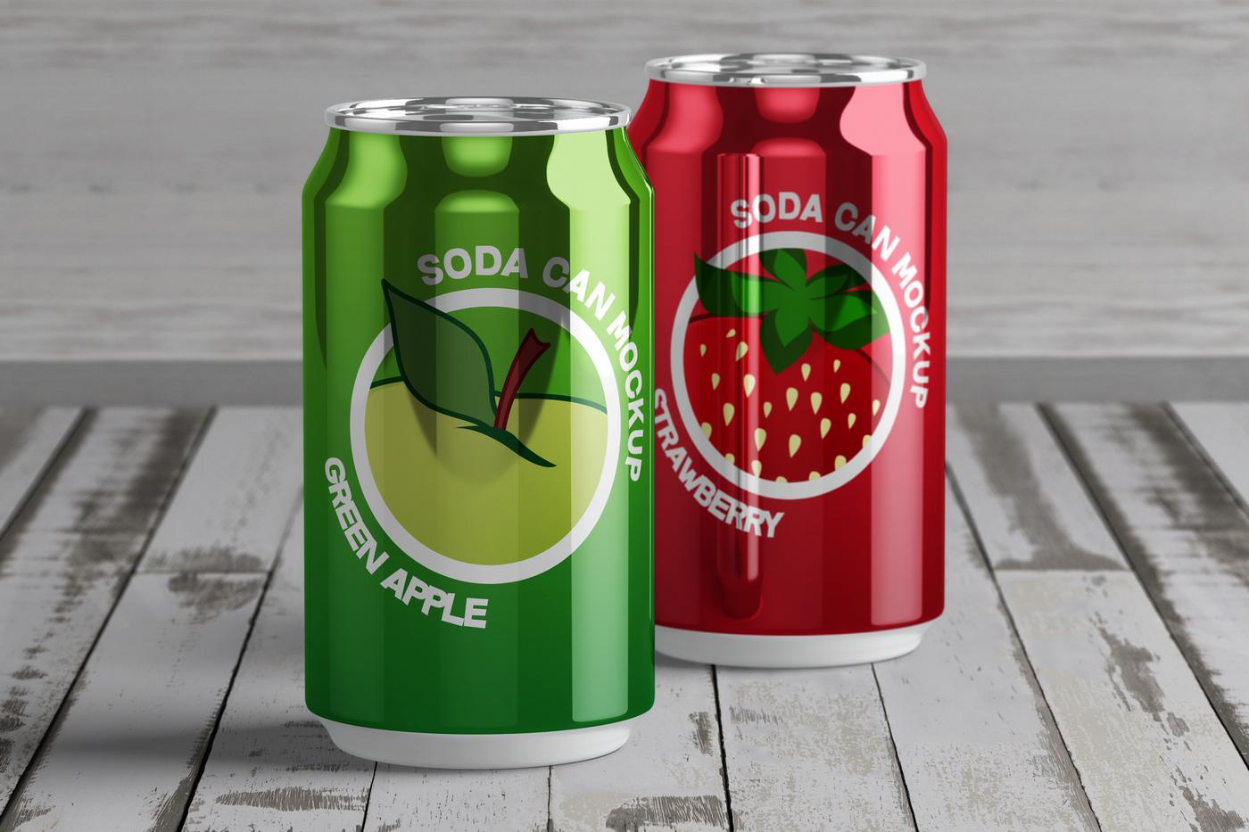 Soda Can Free PSD Mock-Up