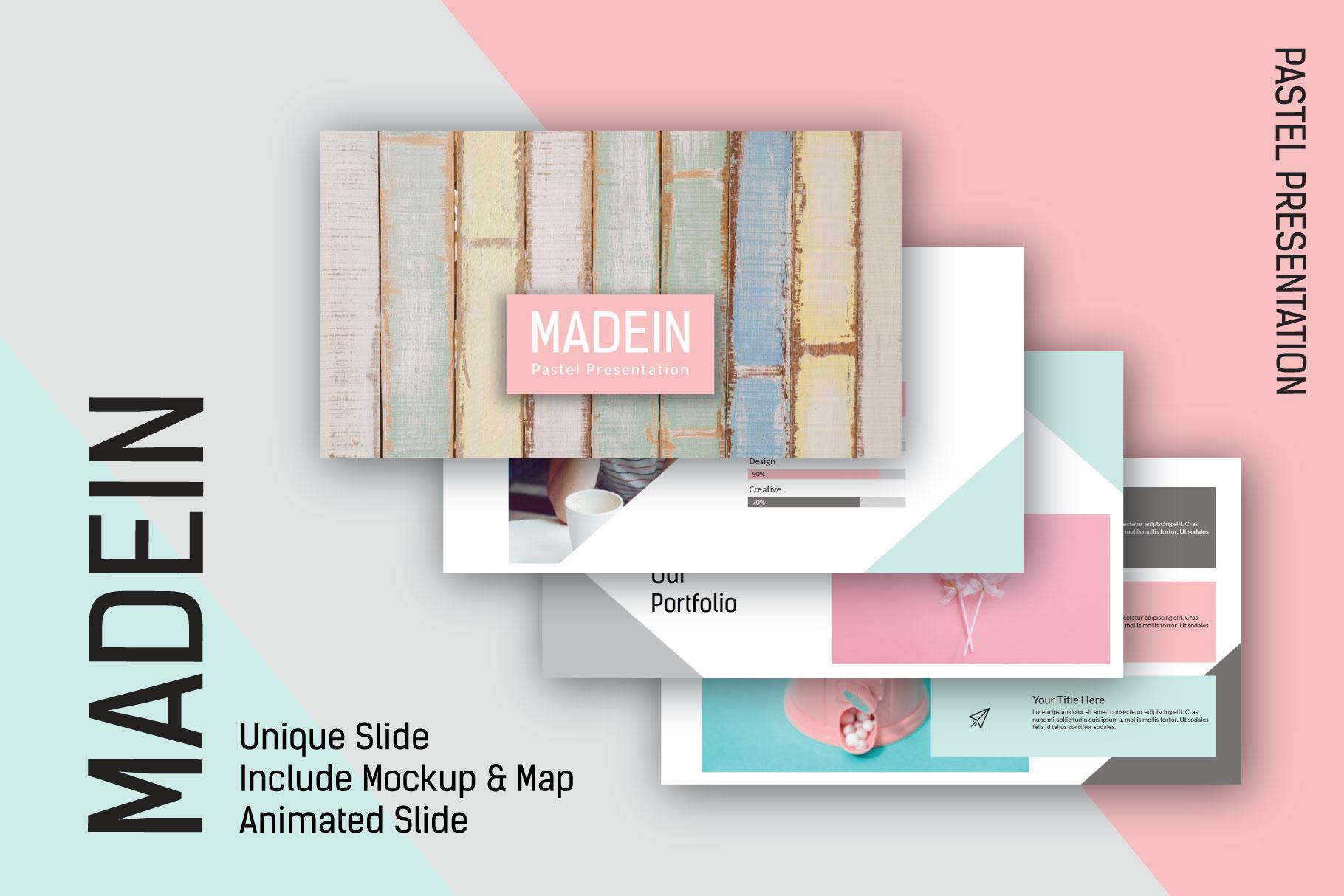 Madein Pastel Free Presentation