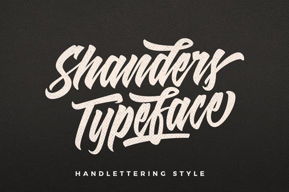 Shanders Free Handlettering Font