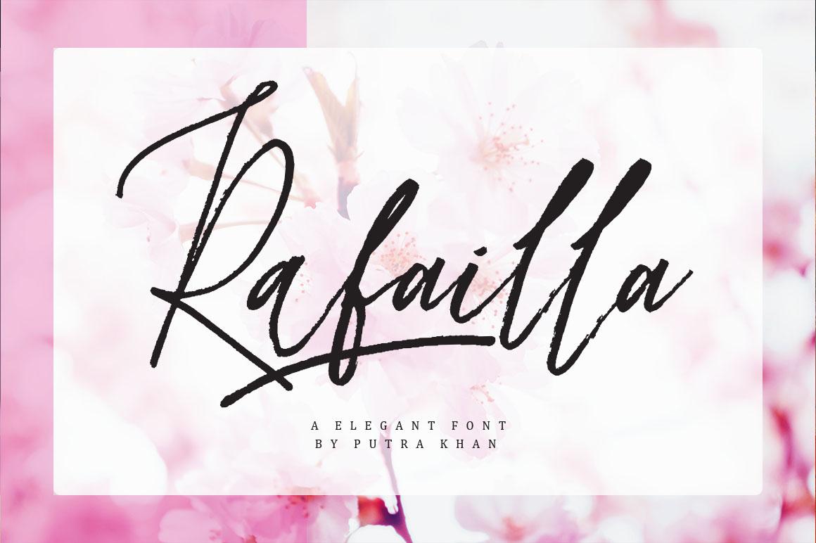 Rafailla Brush Font Demo