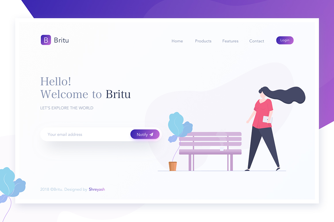 Simple Company Landing Page
