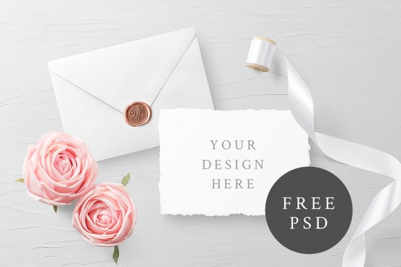 Customizable Invitation Card Mockup