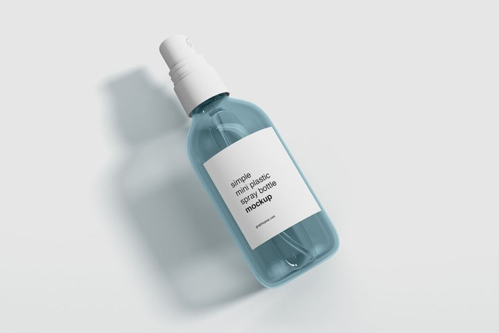 Free Mini Spray Bottle Mockup
