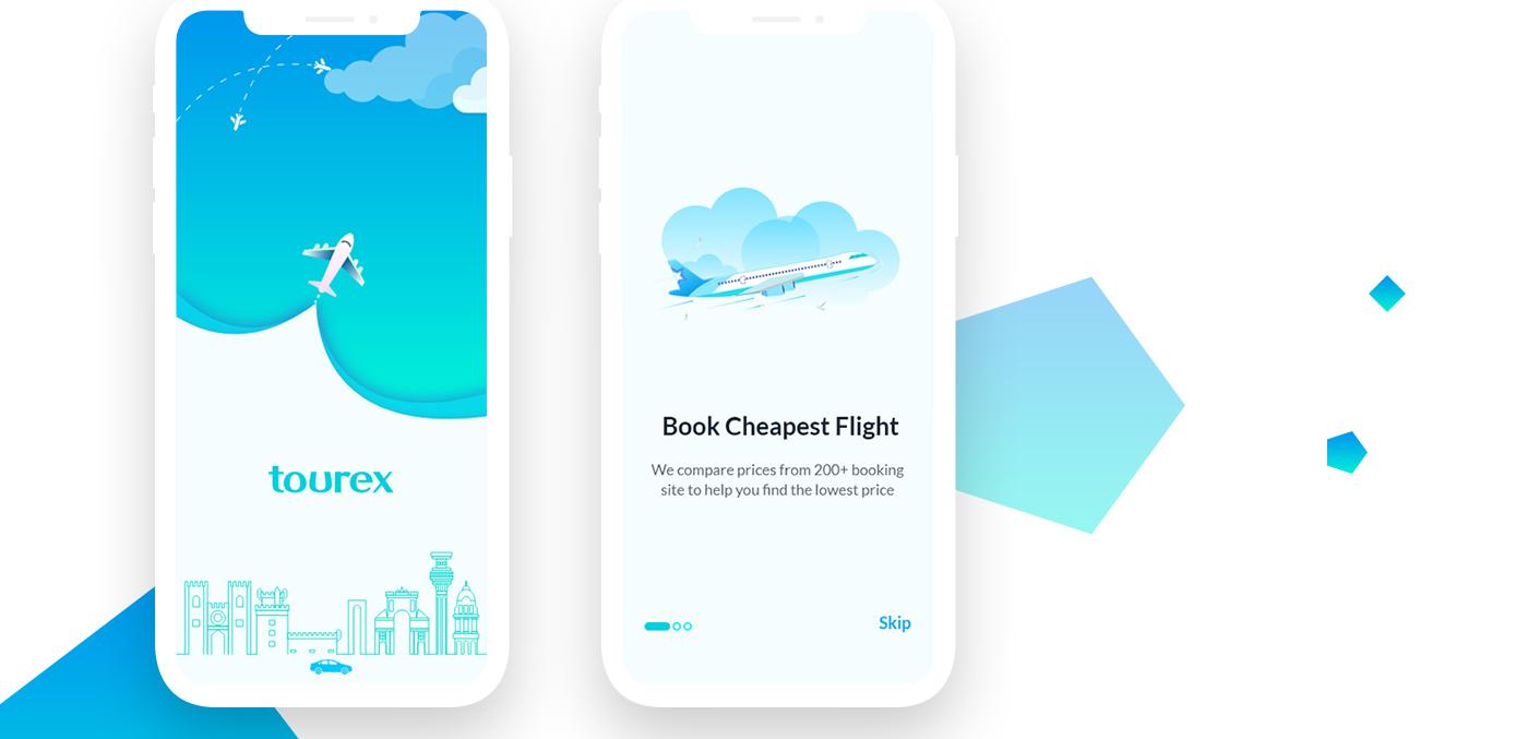 Tourex Free Sketch UI Design