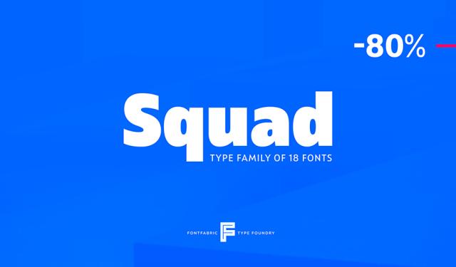 Squad Typefamily Free Demo
