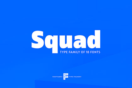 Squad Typefamily Free Demo