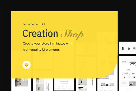 Creation Shop Free UI Kit Sample