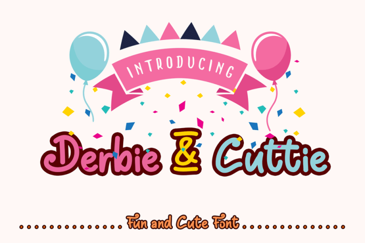 Derbie-Cuttie Free Font Demo