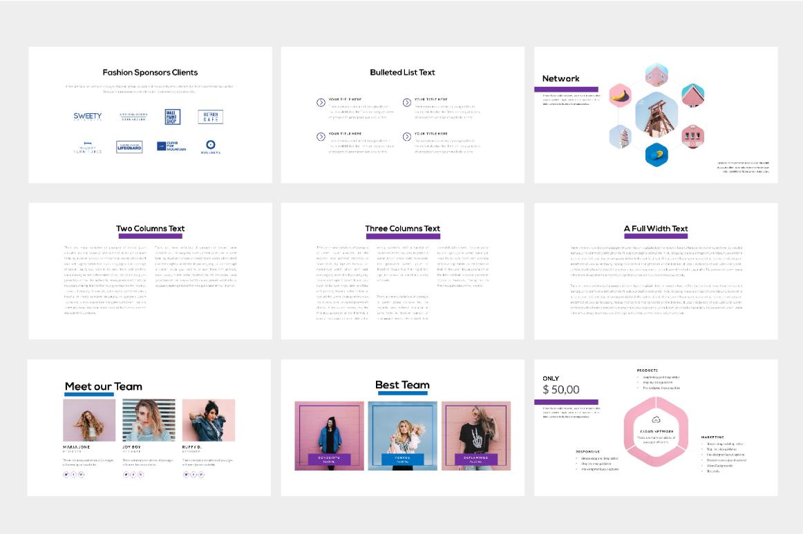 Fashion Free Presentation Template