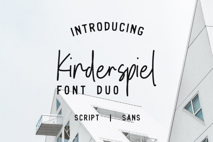 Free Kinderspiel Font Duo Demo