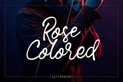 Rose Colored Script Font Demo