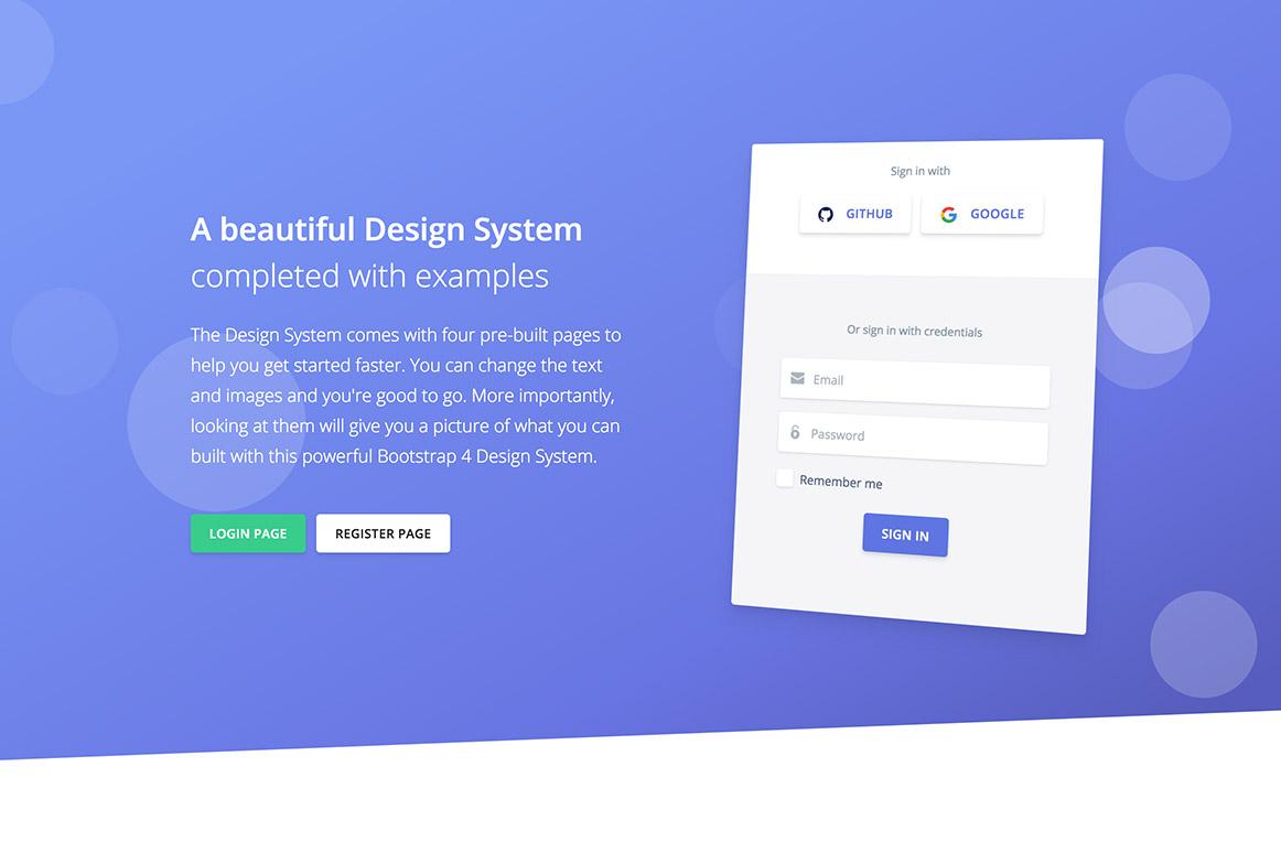 Argon Design System PSD Template