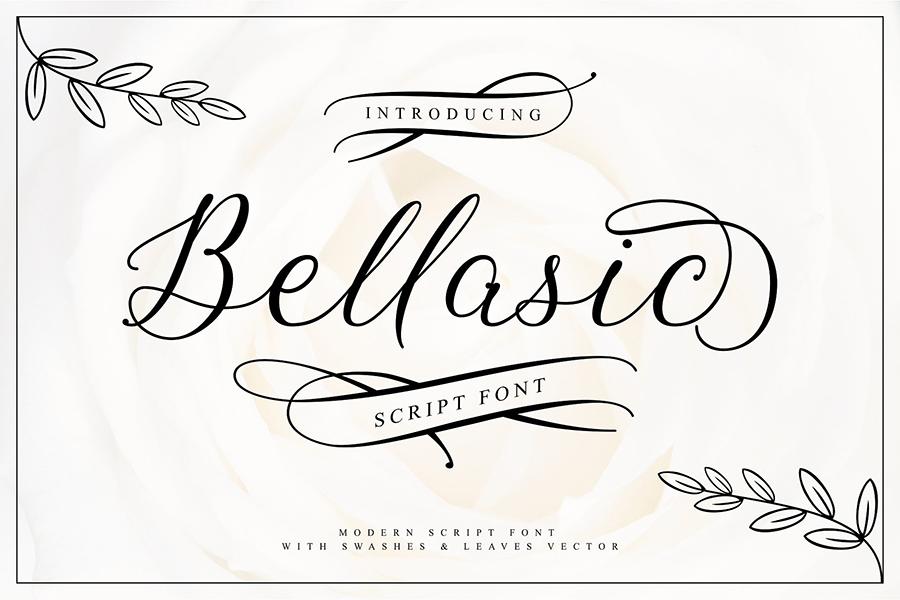 Bellasic Script Free Font Demo