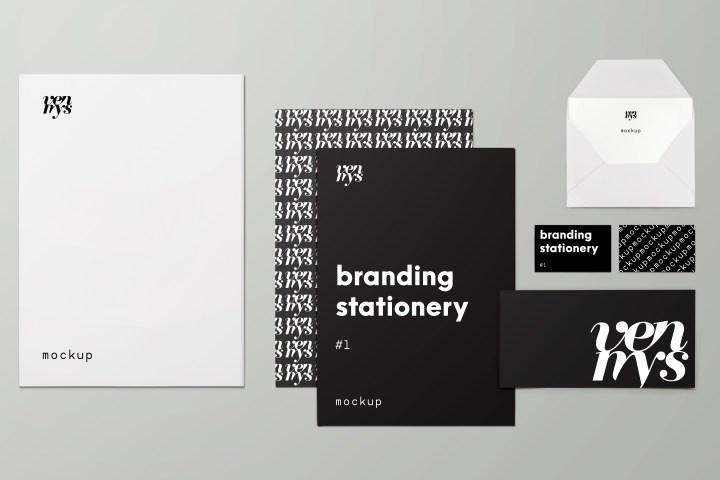 minimal branding stationery mockup - Free Mockup Templates