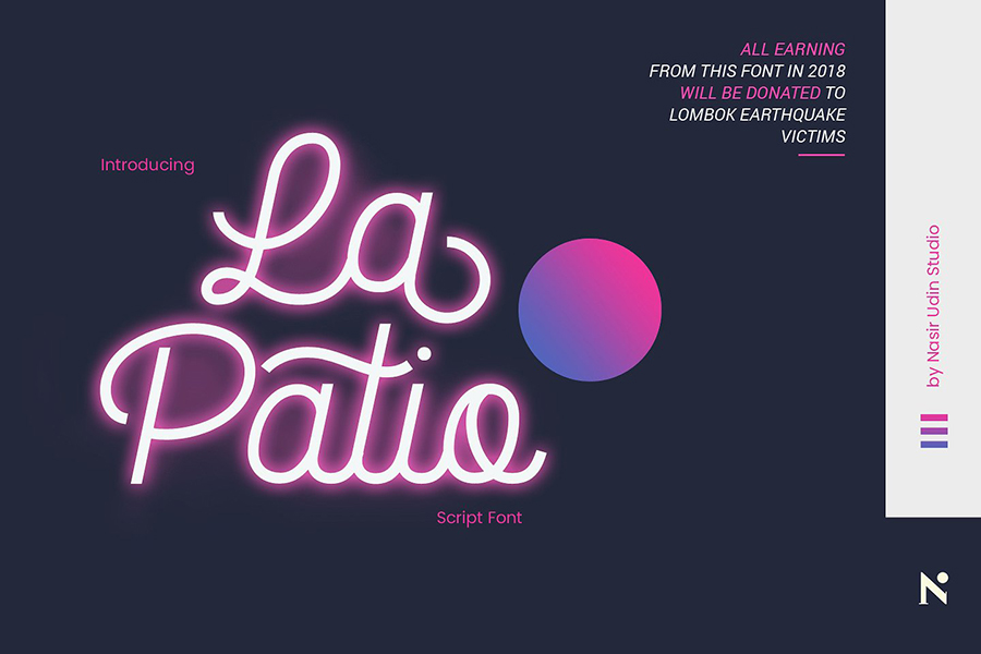 La Patio Script Free Demo