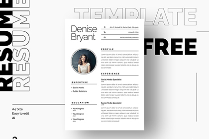 Syra Free Resume Template