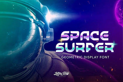 SpaceSurfer Display Font Demo
