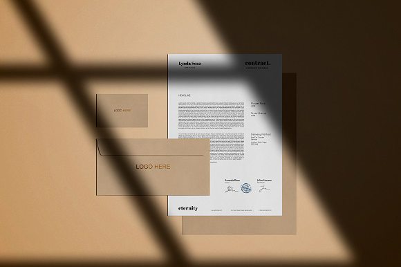 Free Stationery Shadow Mockup