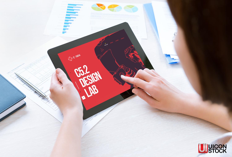 Modern Digital Tablet Mockup