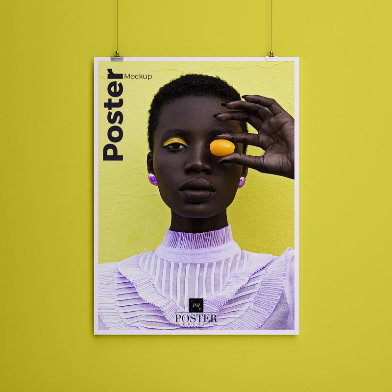 Paper Hanging Poster Mockup