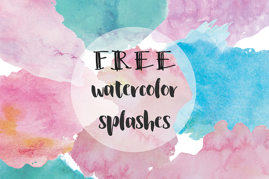 8 Free Watercolor Blobs