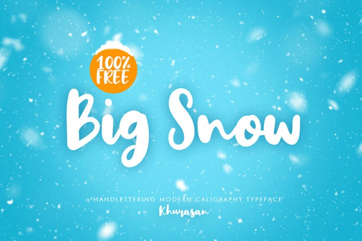Big Snow Free Handlettering Font