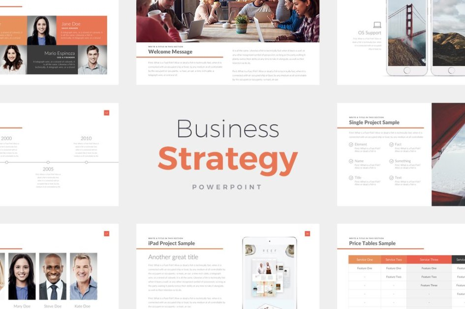 business strategy presentation template free demo free design