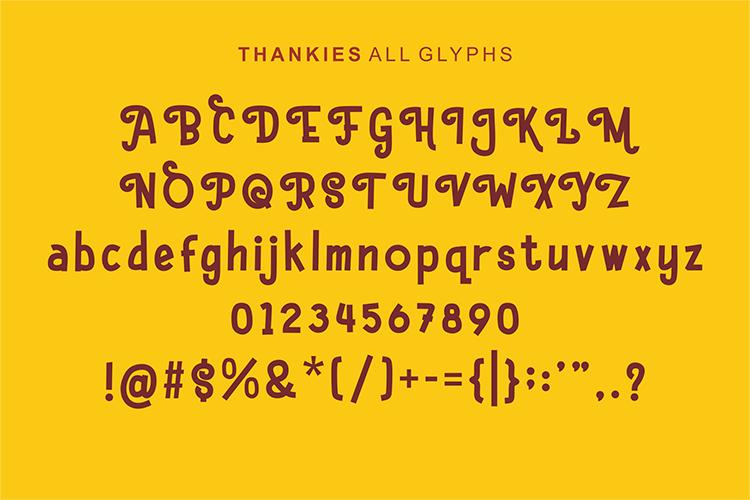 Hello Thankies Free Font