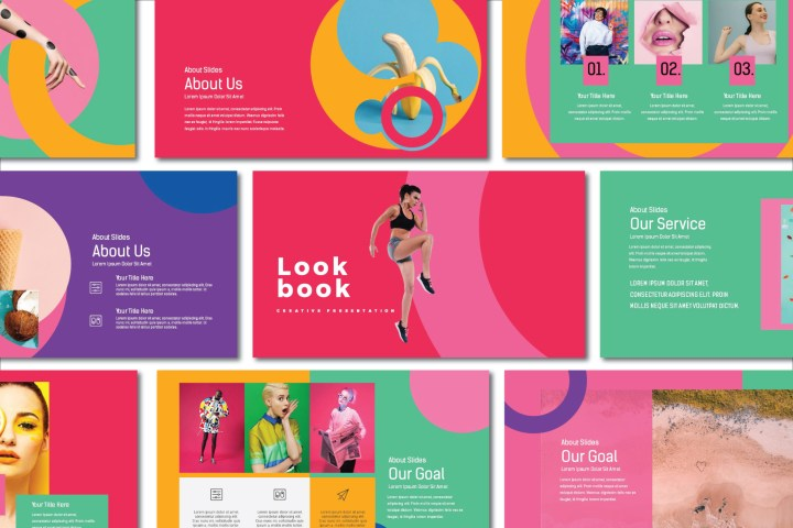 Lookbook Pastel Presentation Template